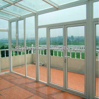 various colors of aluminum frames door parts with customized design