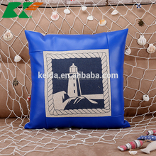 lighthouse cotton and linen Hold pillow Mediterranean style sofa leather luxury cushion covers
