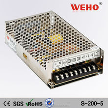 Best manufacturer high quality 200w single output power supply smps 5v