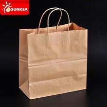Compras impreso personalizado / bolsa papel de estraza marrón compras