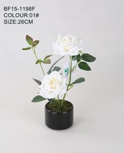 Venta al por mayor nuevo diseño de la tela rose planta para la decoración del hogar
