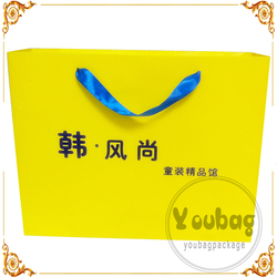 Cheap advertising tote shopping paper bag