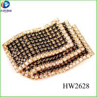 HW2628 black and white rhinestone wing type shoe buckles