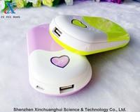 7800mAh Mini portable heart shape mobile power bank
