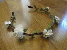 wihte cheap tiara flower girl crown QFHD-2549