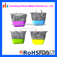 High Quality Super Affordable Silicone Leopard Grain Beach Bag/Silicone Handbags/silicone Waterproof Beach Bag