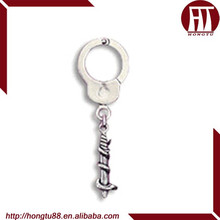 HT 316L Stainless Steel Body Jewelry, Nipple Shield With Dangling Handcuffs Design, Nipple Shield Ring Body Jewelry