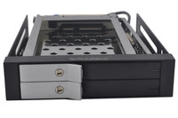 2.5In dual bay internal hdd enclosure with lock supports sata 6Gbps hdd case