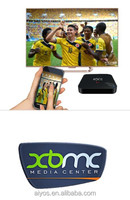 RK3288 4K Quad core android 4.4 smart tv box 16G flash built in wifi bluetoothwith remote control watch tv paly games