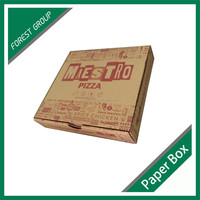 12 INCH CUSTOM CORRUGATED PAPER PIZZA BOX DISPOSABLE FOOD TAKE AWAY BOXES WITH FULL COLOR PRINTING