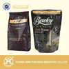 2015 high barrier square bottom or round bottom aluminum foil one-way valve coffee packaging bags with resealable zipper