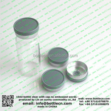 10cc vials with logo for injections/ 10ml tubular glass vials for antibiotics