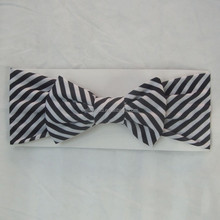 2015 chequered with black and white streak beautiful Bowknot headbands