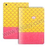 i-Smile Eloise Series Dual-color Design Smart Wake Sleep Stand Flip Leather Case for iPad Mini, For iPad Mini Leather Case