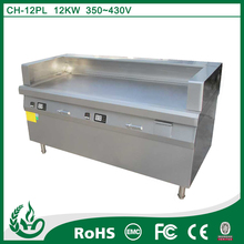 Commercial induction grill / stainless steel surface and iron stone plate cooking area for teppanyaki grill