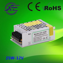 Shenzhen Faithful Power 12V or 24V 25W constant voltage IP20 led driver, led strip power supply, led switching power supply