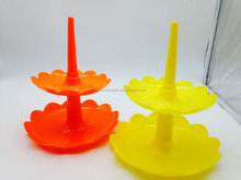 2 Layer Tier plastic Round cupcake stand Serving Display Food Stand Rack 2 tier plastic dessert food stand