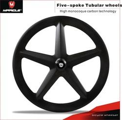 Full carbon wheel 5-spoke carbon fiber tubular cycle wheels,five-spoke bicycle wheel for sale