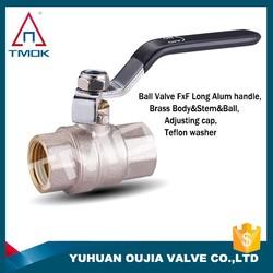 TMOK Hpb57-3 telfon sealing female not thread full port PN40 1/2'' forged brass gas ball valve CE approved Yuhuan Taizhou