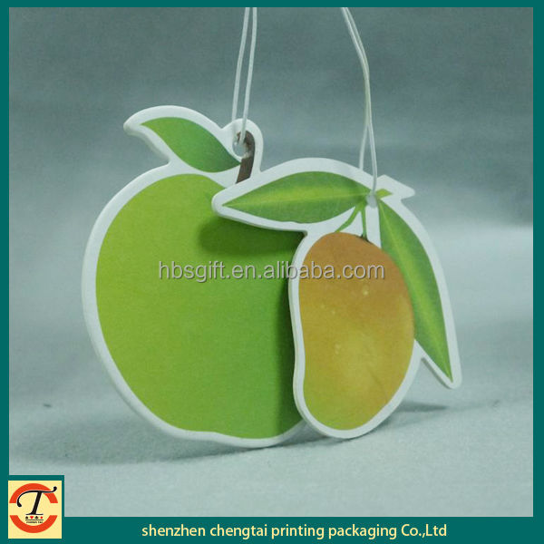 Car air freshener & Car freshener & Special paper fruit shape hanging car air freshener with various design
