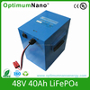 Deep Cycle 48V 40Ah LiFePO4 Battery Packs for Electric Scooter