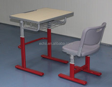 CY382 High classic college furniture Auto adjustable student desk and chair school furniture