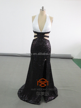 Sexy sequin prom dresses HMY-D496 100% Real image formal evening prom dresses Free Sexy Prom Dress Wholesale