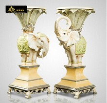 europeo suerte esquinera de elefante mesa para arreglo floral mesa de teléfono