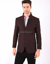 Brand man new design fashion suit with stand collar