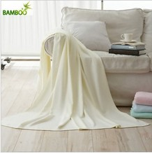 Top Quality Plain Color 100% Organic Cotton Blanket