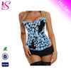 Newest Fashion busty sexy corsets Floral Print Overbust Sexy Corset sexy mature corset