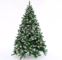 White Pine Needle Artifical Christmas Tree With Cone, Holiday Living Snow Needle Pine Christmas Tree