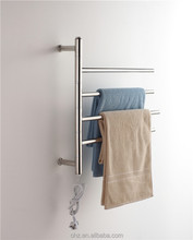 Stainless steel polished Electric heated towel warmer rail rack