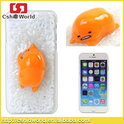 2015 New egg and rice 3D lovely style plastic cover for iPhone 6 PLUS