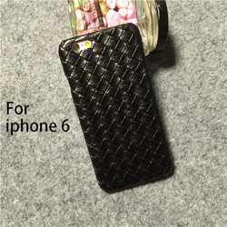 cell phone case knit pattern leather case for iphone 6 back cover for iphone 6