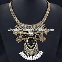 2015 nuevo diseño vintage de bohemia collar de oro