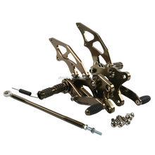 Bronze CNC Front Foot Pegs Set For Kawasaki Ninja 250 EX250 2008-2012 300R 2013-2014