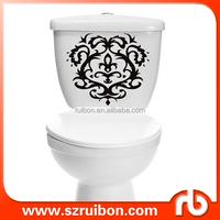New design bathroom decal removable creative vinyl toilet sticker,home decor art toilet stickers