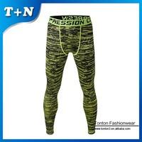 new spandex fabric custom printed mens compression tights