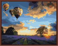 fire balloon photo paint by numbers on canvas handmaded art suppliers GX6523