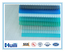 Only 30% Infrared Transmittance Colored Huili Anti-Infrared Heat Resistant 4mm Hollow PC Sheet with UV Protection