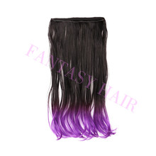ombre high temperature fiber synthetic hair micro loop ring hair extension