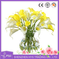 Wedding stage decoration flowers PU calla lilies handmade decor