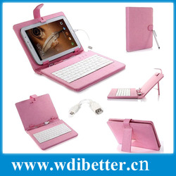 USB keyboard leather case for 7 inch Android 2.3 2.2 Tablet pc epad