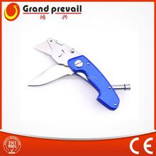 Utility knife blade with LED light