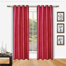 100% Polyester faux silk Embossed window curtain