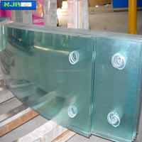 5mm Curved Glass, laminated curved glass