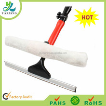 Window cleaner, glass squeegee 90 degree rotation design