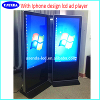 60inch digital signage android touch screen lCD video advertising monitor