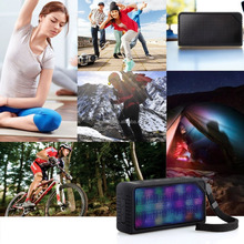 LZG-Z3 Hi-Fi Portable Wireless Stereo Speaker with 7 LED Visual Modes and Build-in Microphone Support Hands-free Function
